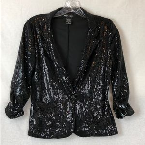 About a girl black sequin Jacket 🛍🛍